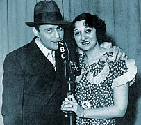 Jack Benny and his wife -  Mary Livingstone in an early portrait