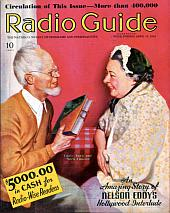 "Uncle Ezra on the cover of -  ""Radio Guide"" April 25, 1936"