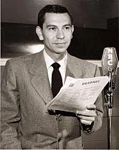 Jack Webb at the NBC mike
