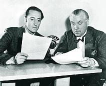 Basil Rathbone & Nigel Bruce -  before the Mutual microphone